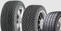 Эволюция шин Goodyear Eagle F1: GS, GS-D2, GS-D3 (справа налево)